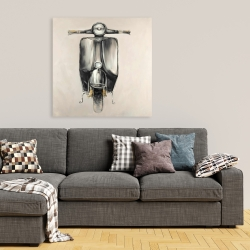 Canvas 36 x 36 - Small black moped