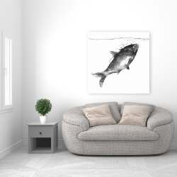 Canvas 36 x 36 - Happy swimming fish