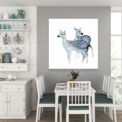 Canvas 36 x 36 - Blue fawns