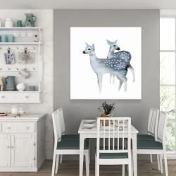 Canvas 36 x 36 - Blue fawns