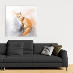 Canvas 36 x 36 - Watercolor fox