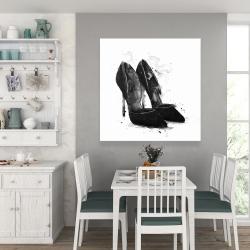 Canvas 36 x 36 - Black pumps