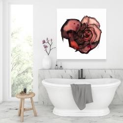 Canvas 36 x 36 - Dark rose