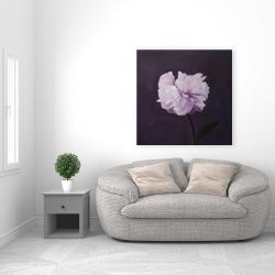 Toile 36 x 36 - Magnifique fleur mauve