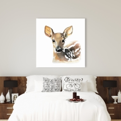 Canvas 36 x 36 - Watercolor fawn face