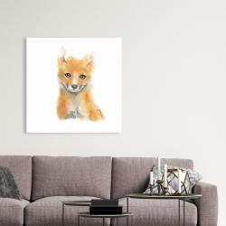 Canvas 36 x 36 - Watercolor baby fox