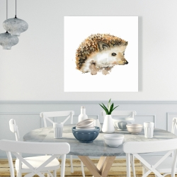 Canvas 36 x 36 - Watercolor hedgehog