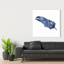 Canvas 36 x 36 - Blue feather