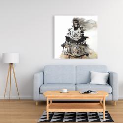 Canvas 36 x 36 - Vintage train