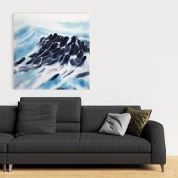 Canvas 36 x 36 - Sea waves with paint splash