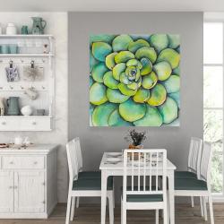 Canvas 36 x 36 - Watercolor succulent plant