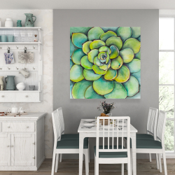 Canvas 36 x 36 - Watercolor succulent plant