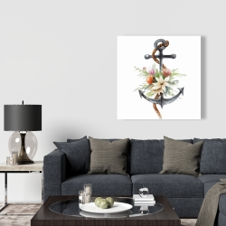 Canvas 36 x 36 - Anchor with flowers