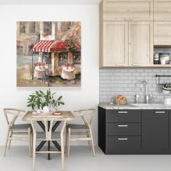 Canvas 36 x 36 - Sunny restaurant terrace