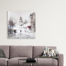 Canvas 36 x 36 - Gray city street