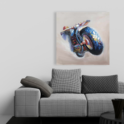 Canvas 36 x 36 - Motorcycle in jump