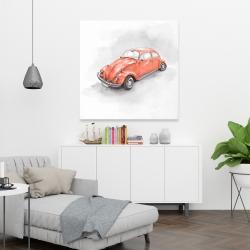 Canvas 36 x 36 - Vintage red beetle