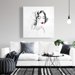 Canvas 36 x 36 - Watercolor woman