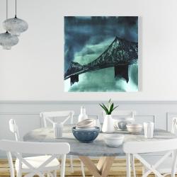 Canvas 36 x 36 - Montreal jacques-cartier bridge