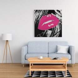 Canvas 36 x 36 - Kissable pink glossy lips
