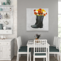 Canvas 36 x 36 - Boots full of flowers