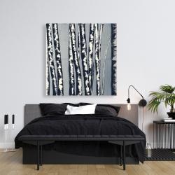 Canvas 36 x 36 - Pastel birches