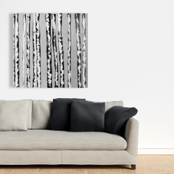 Canvas 36 x 36 - Birches black and white