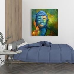 Toile 36 x 36 - Bouddha coloré