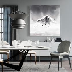 Canvas 36 x 36 - Mountain peak