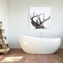 Canvas 36 x 36 - Roe deer plume