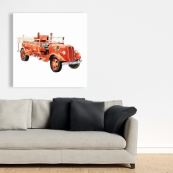 Canvas 36 x 36 - Vintage fire truck