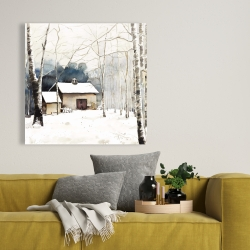 Canvas 36 x 36 - Small winter barn
