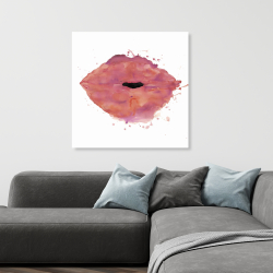 Canvas 36 x 36 - Watercolor pink lipstick