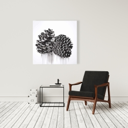 Canvas 36 x 36 - Three small pine cones