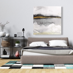 Canvas 36 x 36 - Gold stripe abstract