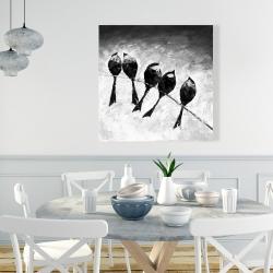 Canvas 36 x 36 - Five birds perched
