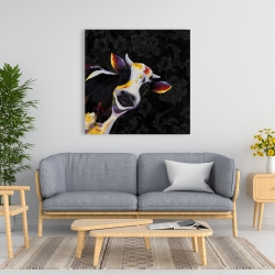 Canvas 36 x 36 - Funny cow