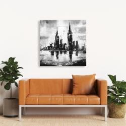 Canvas 36 x 36 - Mono urban cityscape