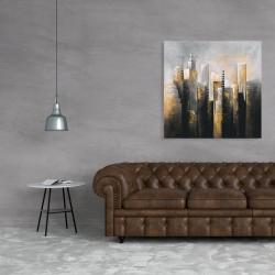 Canvas 36 x 36 - Abstract gold skyscraper