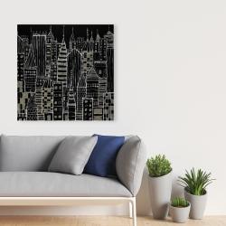 Canvas 36 x 36 - Illustrative dark city