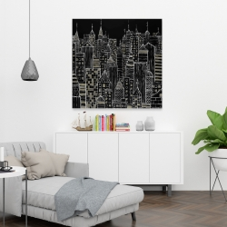 Canvas 36 x 36 - Illustrative city towers
