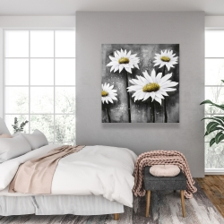Canvas 36 x 36 - Daisies at sun