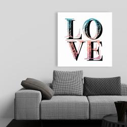 Canvas 36 x 36 - Colorful love