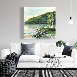 Canvas 36 x 36 - Sailboat day
