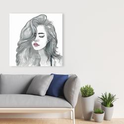 Canvas 36 x 36 - Beautiful female hair