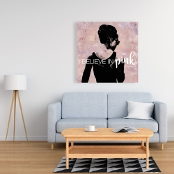 Canvas 36 x 36 - I believe in pink