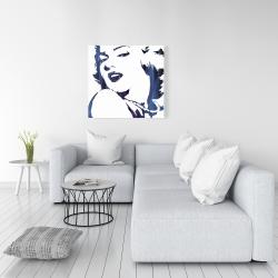 Canvas 36 x 36 - Marilyn monroe in blue