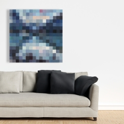 Canvas 36 x 36 - Pixelated mountainous landscape