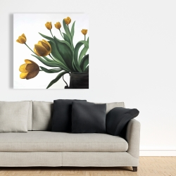 Canvas 36 x 36 - Yellow tulips