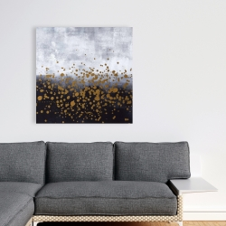 Canvas 36 x 36 - Gold paint splash on gray background